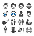 man icon set vector image vector image