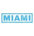 Miami Rubber Stamp vector image vector image
