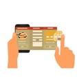 Mobile app for ordering sushi vector image vector image