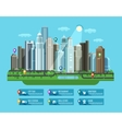 Modern city Set of elements - building house vector image vector image