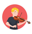 musician playing violin boy violinist is inspired vector image vector image