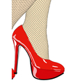 My beautiful red shoes vector image vector image