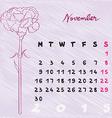 november 2015 flowers vector image vector image