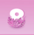 number eight with pink tree vector image