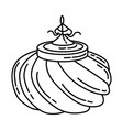ottoman sultan hat icon doodle hand drawn vector image