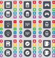 Player Battery Gamepad Light bulb Number Train SIM vector image vector image