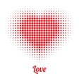 Red Heart Halftone logo vector image vector image