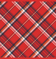 red plaid fabric texture pixel seamless pattern vector image vector image