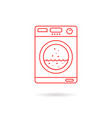 red thin line washing machine vector image vector image