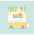 road trip van with a lot luggage vector image vector image