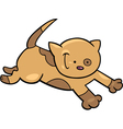 running kitten vector image vector image