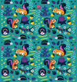 seamless pattern of crazy squirrels with nuts vector image vector image
