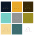 set of icons in flat style ramadan logo vector image vector image