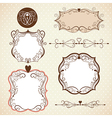 set ornamental frames vector image