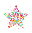 star dot icon color dot vector image