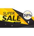 super sale yellow and black voucher design vector image vector image