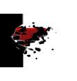 superhero break through concrete wall vector image vector image