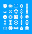 time and clock icons set simple style vector image vector image