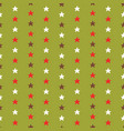 tiny christmas stars hand drawn brown vector image