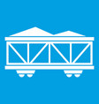 train cargo wagon icon white vector image vector image