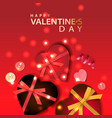 valentines day banner background design of vector image vector image