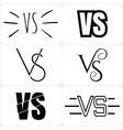 Versus letters logo Black V and S symbols vector image vector image