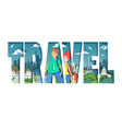 worldwide travel paper cut style vector image
