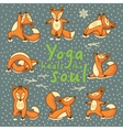 Yoga heals the soul vector image