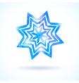 Shining watercolor snowflake vector image
