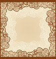 gentle floral template vector image