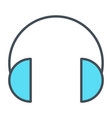 headphones thin line icon vector image