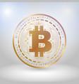 golden bit coin digital currency vector image