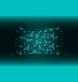a file folder of lines and triangles a network vector image vector image
