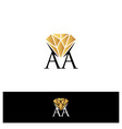 aa letter vector image vector image