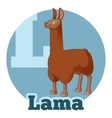 ABC Cartoon Lama vector image