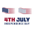American Flag 4th july american independence day vector image vector image
