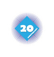 anniversary 20 years multicolored icon can be vector image