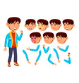 asian boy child kid teen teenager vector image vector image