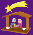 Baby Jesus in a manger 8 vector image