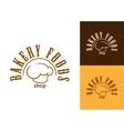 Bakery shop emblem or label vector image vector image