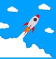 banner with startup rocketlaunch rocket vector image vector image