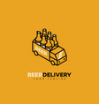 beer delivery logo vector image