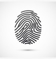 black fingerprint isolated on white background vector image vector image