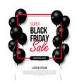 black friday big sale black air balloon creative vector image vector image