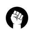 black lives matter with clenched fist symbol vector image
