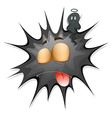 Black splash with face vector image vector image