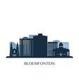 bloemfontein skyline monochrome silhouette vector image vector image