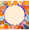 breakfast round template banner vector image