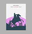 bronze horseman st petersburg russia vintage vector image