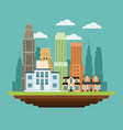 building college home residential buildings vector image